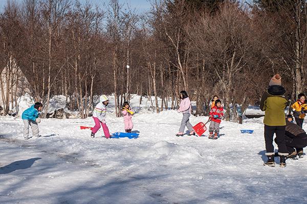 雪合戦子ども
