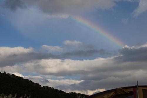 虹が見えたよ